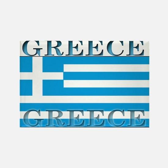 Greece Greek Flag Rectangle Magnet