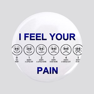 """Pain Scale 3.5"""" Button"""