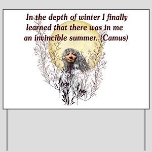 Winter Pagan Goddess Yard Sign