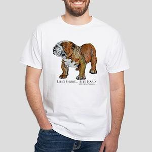 Bulldogs Life Motto White T-Shirt