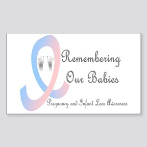 Remembering Our Babies Rectangle Sticker