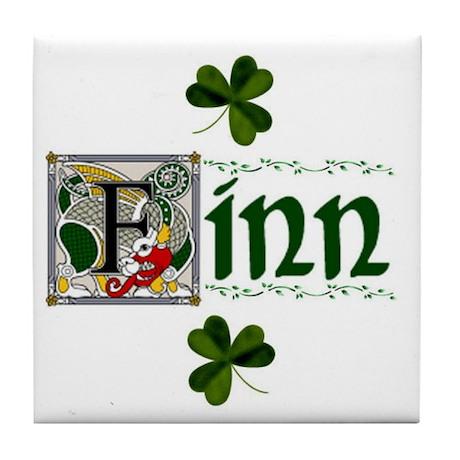Finn Celtic Dragon Ceramic Tile