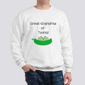 Great Grandma of twins Sweatshirt