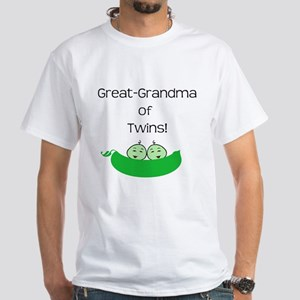Great Grandma of twins White T-Shirt