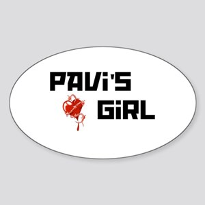 Pavi's Girl Oval Sticker