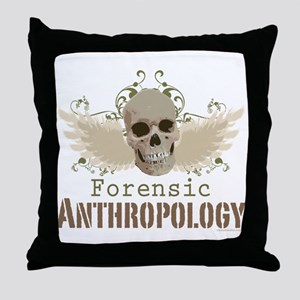 Forensic Anthropology Throw Pillow