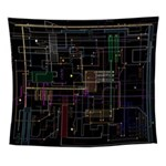 Techno Assimilated Wall Tapestry