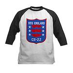 USS ENGLAND Kids Baseball Jersey