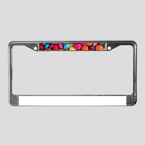 rainbow colors chocolate candy License Plate Frame