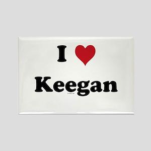 I love Keegan Rectangle Magnet