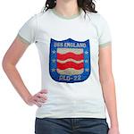 USS ENGLAND Jr. Ringer T-Shirt