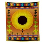 Native American Sunburst Wall Tapestry