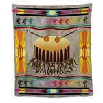 Native American Drum Wall Tapestry
