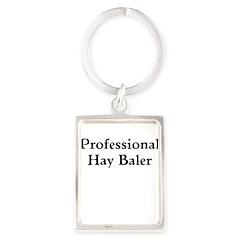 Professional Hay Baler Keychains