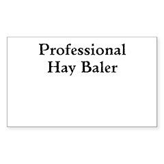 Professional Hay Baler Decal