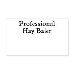 Professional Hay Baler Wall Decal