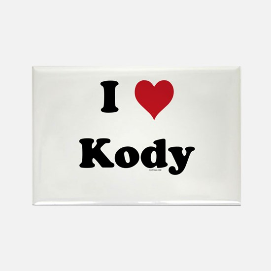 I love Kody Rectangle Magnet