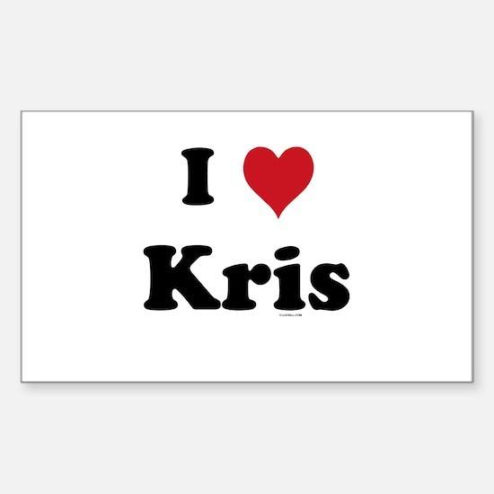 I love Kris Rectangle Decal