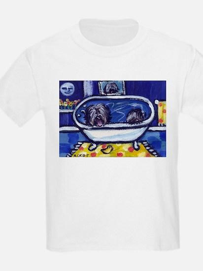 TIBETAN TERRIER bath Kids T-Shirt