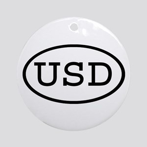 USD Oval Ornament (Round)