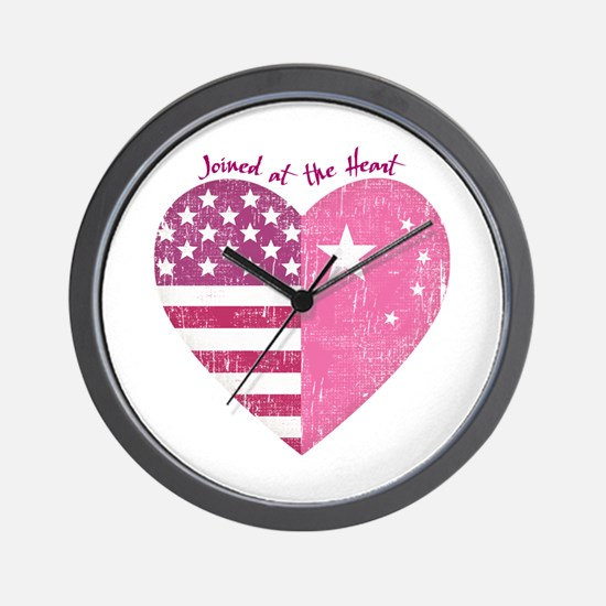 Joined at the Heart (pink) Wall Clock
