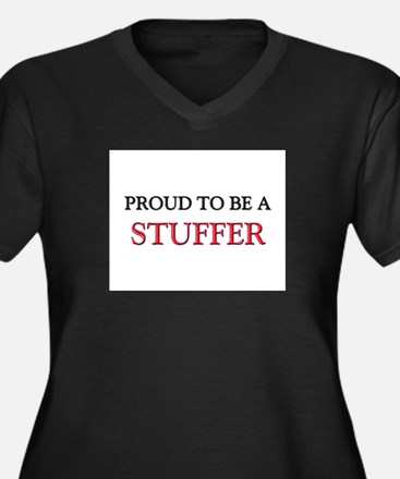 Proud to be a Stuffer Women's Plus Size V-Neck Dar
