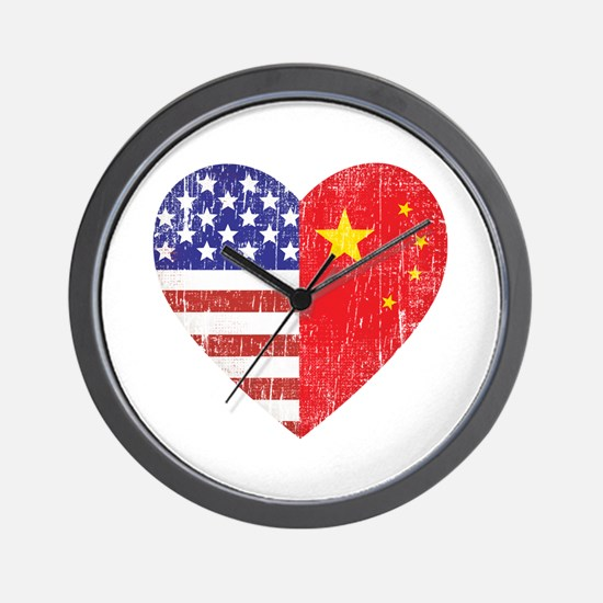 Family Heart Wall Clock