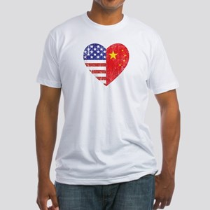 Family Heart Fitted T-Shirt