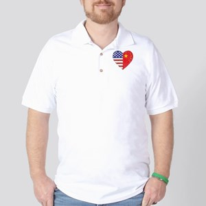 Family Heart Golf Shirt