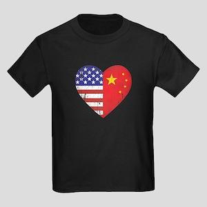 Family Heart Kids Dark T-Shirt