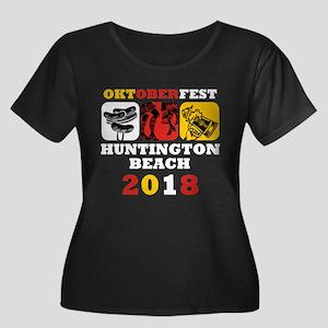 Oktoberf Women's Plus Size Scoop Neck Dark T-Shirt