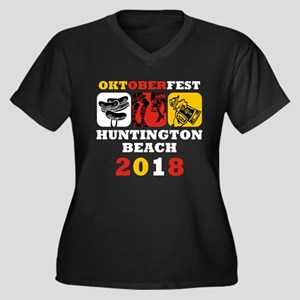 Oktoberfest Women's Plus Size V-Neck Dark T-Shirt