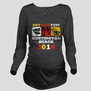 Oktoberfest HB 2018 Long Sleeve Maternity T-Shirt