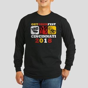 Oktoberfest Cin 2018 Long Sleeve Dark T-Shirt