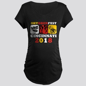 Oktoberfest Cin 2018 Maternity Dark T-Shirt