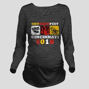 Oktoberfest Cin 2018 Long Sleeve Maternity T-Shirt