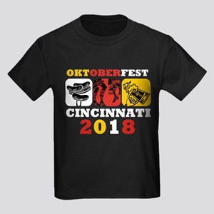 Oktoberfest Cin 2018 Kids Dark T-Shirt