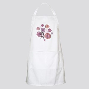 Paternal Grandma with Flowers BBQ Apron