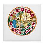 Florida For McCain / Palin Tile Coaster