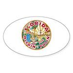 Florida For McCain / Palin Oval Sticker (10 pk)