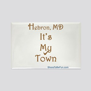 Hebron It's My Town Rectangle Magnet