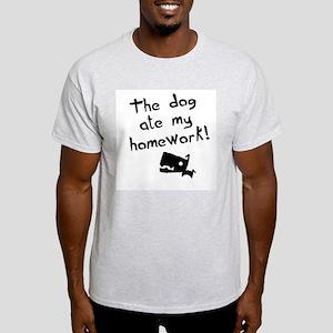 The Dog Ate My Homework Ash Grey T-Shirt