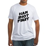 Han Shot First Fitted T-Shirt