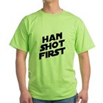Han Shot First Green T-Shirt