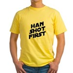 Han Shot First Yellow T-Shirt