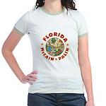 Florida For McCain / Palin Jr. Ringer T-Shirt