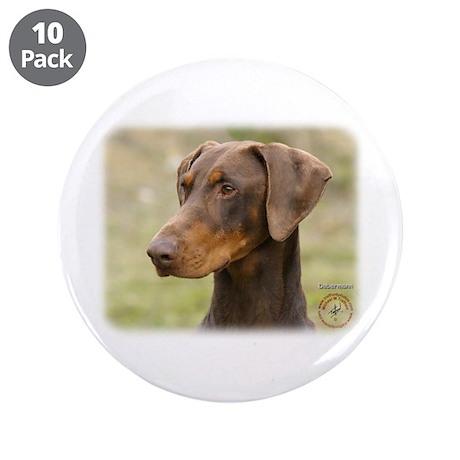 """Dobermann 9K060D-19 3.5"""" Button (10 pack)"""