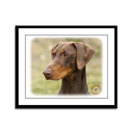 Dobermann 9K060D-19 Framed Panel Print