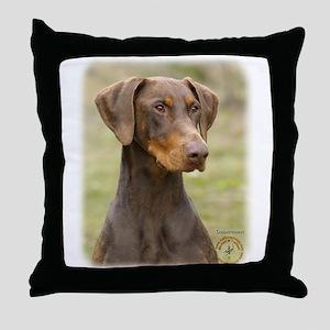 Dobermann 9K060D-19 Throw Pillow