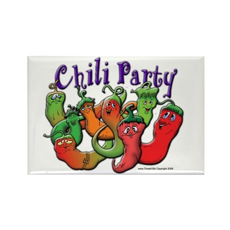 Chili Party Rectangle Magnet (100 pack)